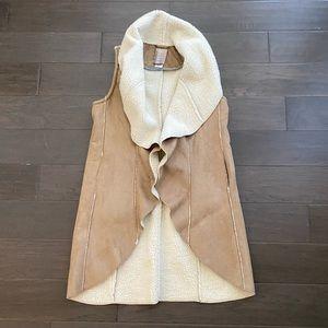 Anthro Dolan Long Shearling Vest